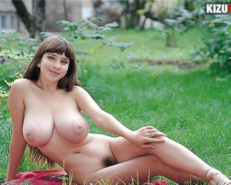 Curvy Young With Large Boobs Strips Outdoors