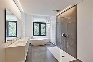 installer une douche a litalienne With carrelage adhesif salle de bain avec lit moderne led