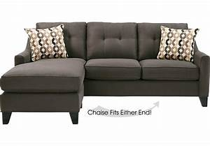 Cindy crawford home madison place slate 2 pc sectional for Sectional sofas room place