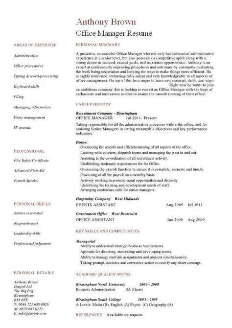 sample resume for office manager position dental office manager resume sample sample resumes