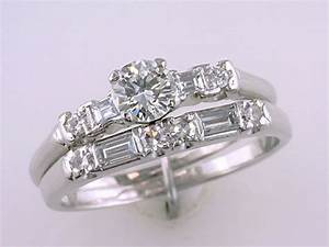 vintage antique art deco 1 4ct diamond platinum wedding With vintage platinum wedding ring