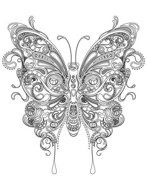 coloriage papillon tres difficile  imprimer adult