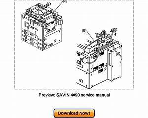 Savin 4090 40105 Service Repair Manual Download