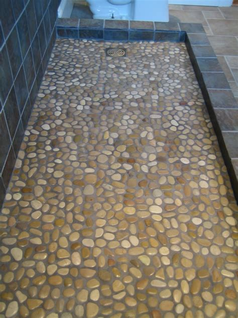 mosaic shower floor tile 31 great ideas and pictures of river rock tiles for the bathroom