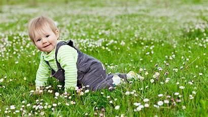 Children Child Garden Grass Happy Flowers Play