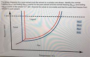 Solved  The Phase Diagrams For A Pure Solvent And The Solv