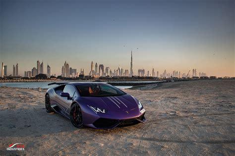 Photoshoot Matte Purple Lamborghini Huracán From Dubai