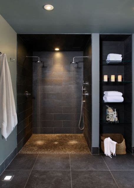 Modern Bathroom Black Tile by 25 Chic And Stylish Bathrooms With Black Walls Digsdigs