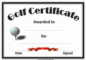 golf awards With free hole in one certificate template