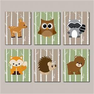 WOODLAND Nursery, Woodland Animals WALL from