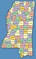 Online Maps: Mississippi county map
