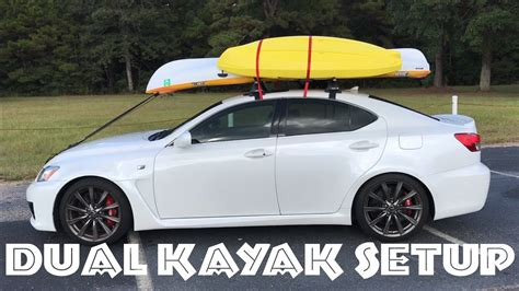 kayak carrier for car without roof rack how to load 2 kayaks on a car roof rack dual kayak