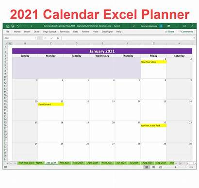 Calendar Excel Planner Template Weekly Monthly Templates