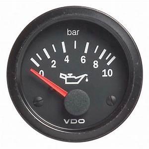 Vdo Vision Electrical Oil Pressure Gauge  Rally