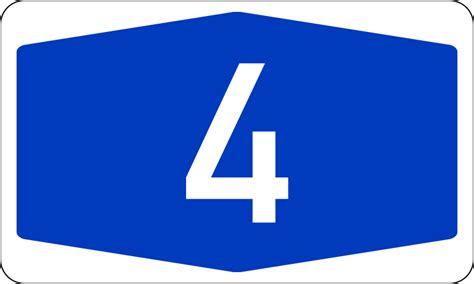 Bundesautobahn 4 Number.svg