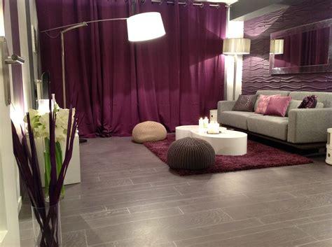 chambre grise et prune décoration chambre adulte gris et prune