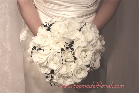 Black And White Bridal And Bm Bouquets Inspiration