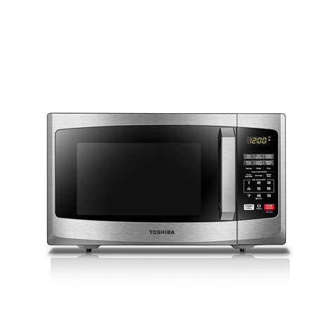 countertop microwave stainless steel toshiba 0 9 cu ft stainless steel countertop microwave
