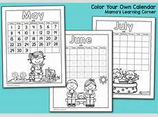 Color Fun! Printable Calendar for Kids 2016 Mamas