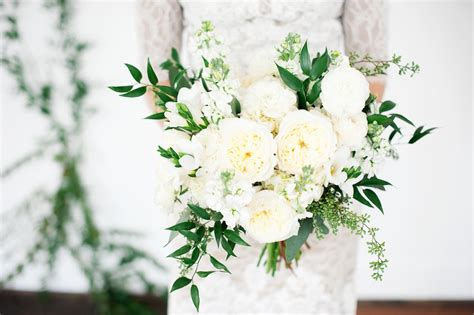 Romantic White Wedding Flowers + Vine Wall Backdrop