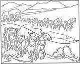 Coloring Pioneer Pages History Children Mormon Transportation Handcart Communication Colouring Early 1923 Improvement October Template American Pioneers Horse Popular Pulling sketch template