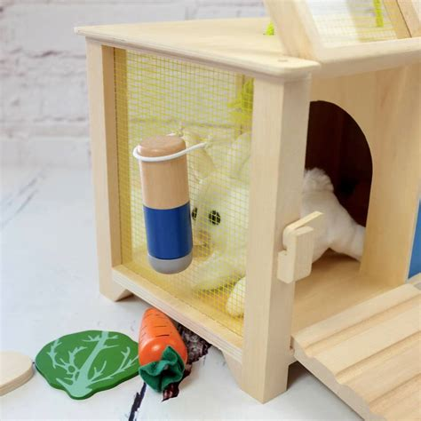 hutch accessories personalised rabbit hutch with accessories by auntie