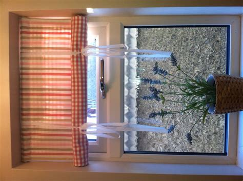 swedish roll up blind made from contrasting ikea fabrics