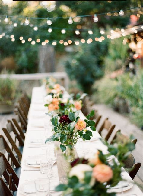Mt Hood National Forest Wedding Outdoor wedding tables