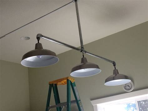 galvanized pipe lighting new lights hubby made for craft room galvanized pipe from