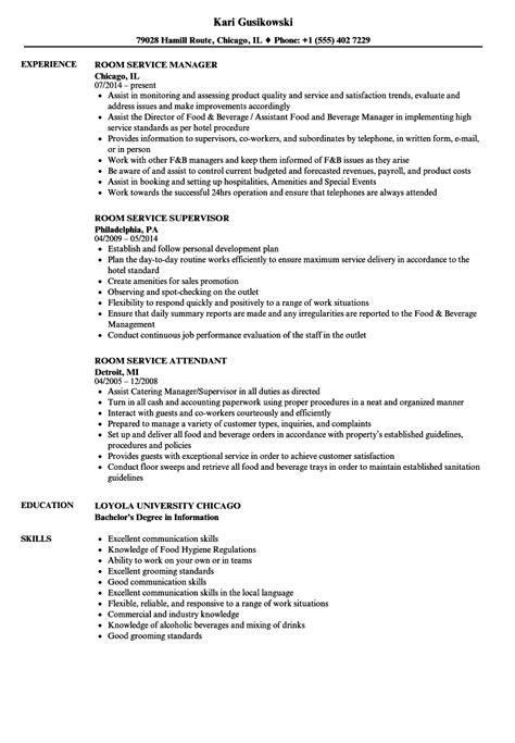 Hotel Room Attendant Resume by Room Service Resume Sles Velvet
