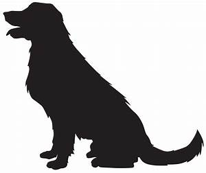 Puppy clipart silhouette - Pencil and in color puppy ...