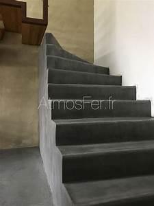 Escalier Colimaçon Beton : escalier b ton et acier graphique 5 atmos fer toulouse ~ Melissatoandfro.com Idées de Décoration