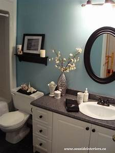 The current paint color is tranquil blue by benjamin moore for Tranquil bathroom colors