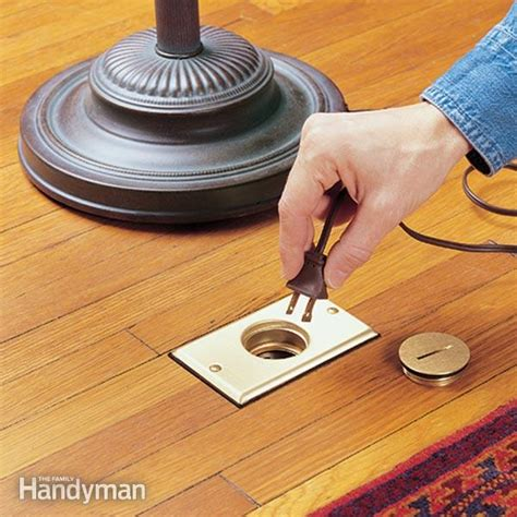 flooring outlet how to install a floor outlet the family handyman