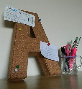 diy cork board letters diy home decor pinterest With letter pin board