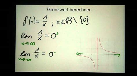 grenzwert berechnen mathe aufgaben youtube