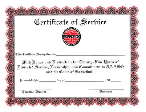 Certificate For Years Of Service Template by Certificate For Years Of Service Template 2 Popular