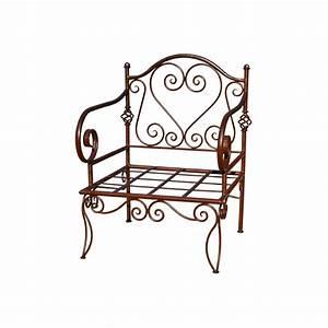 Fauteuil Fer Forgé : fauteuil coeur en fer forg ~ Melissatoandfro.com Idées de Décoration