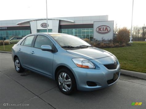 2009 Zephyr Blue Metallic Toyota Yaris Sedan 74925462