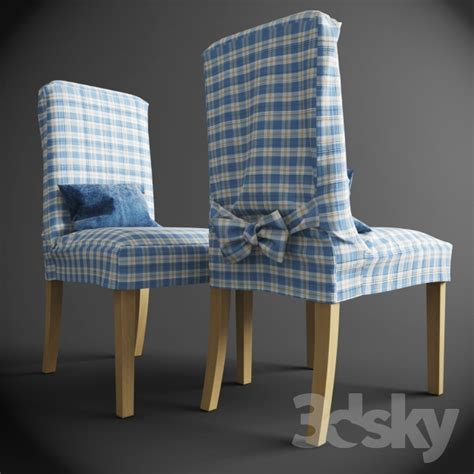 3d models chair henriksdal chair with removable covers ikea