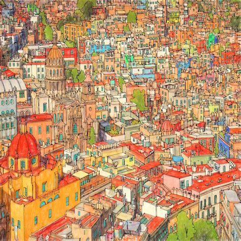 fantastic cities  beautiful colouring book