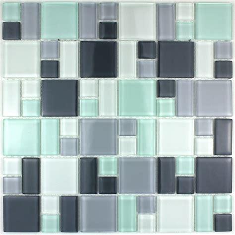 domino de cuisine mosaïque verre crédence cuisine verre mosaïque