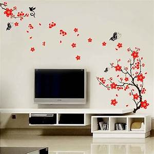 blossom flowers tree wall stickers mural art decal self With decoration stickers muraux adhesif