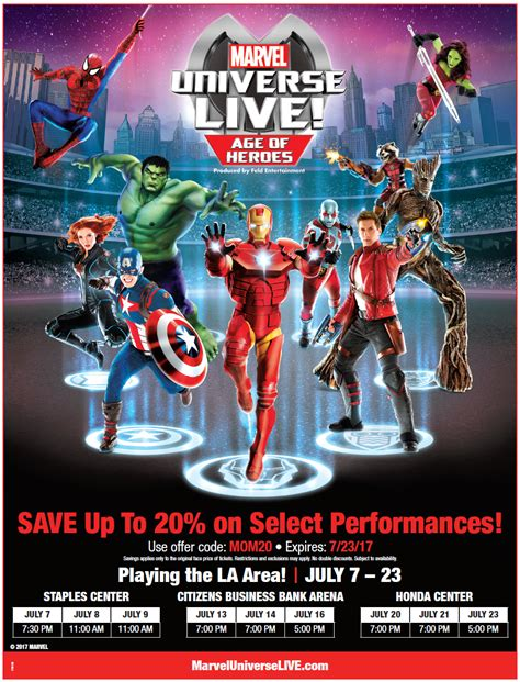 Marvel Universe Live! Age Of Heroes Comes To La In July
