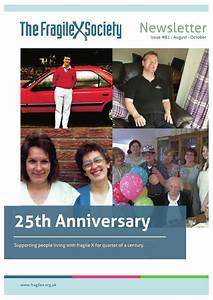 Fragile X Society Newsletter: 25th Anniversary Edition by ...