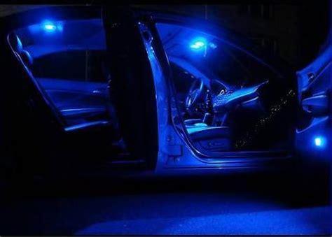 4pcs blue led lights interior package kit honda civic 2012