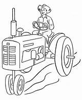 Farmer Coloring Tractor Pages Farm Sheets Printable Print Farmers Drawing Case Insurance Combine Template Sketch Coloringfolder Credit sketch template