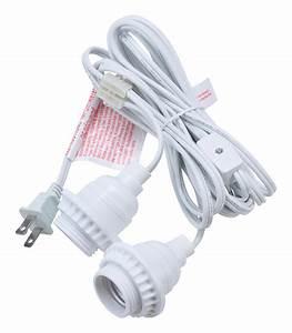 Double socket pendant light cord kit for lanterns ft