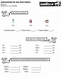 Rauminhalt Berechnen Liter : bungen mathe klasse 4 kostenlos zum download ~ Themetempest.com Abrechnung