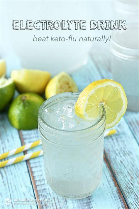 beat keto flu  homemade electrolyte drink